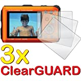 GUARMOR - 3x Panasonic Lumix DMC-TS4 DMC-FT4 Premium Clear LCD Screen Protector Cover Guard Shield Protective Film Kit (3 Pieces)
