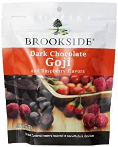 Brookside Dark Chocolate Covered Goji and Raspberries, 7-Ounce (Pack of 4)