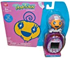 Bandai Tamagotchi Tamatown Purple And Orange Tama-Go With Memetchi Gotchi Figure Charm