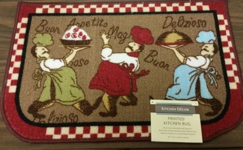 The Pecan Man THREE CHEF NYLON KITCHEN RUG (non skid latex back),1Pcs,(16