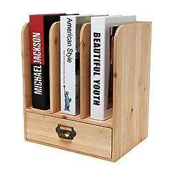 Rustic Freestanding Wood Tabletop Bookshelf