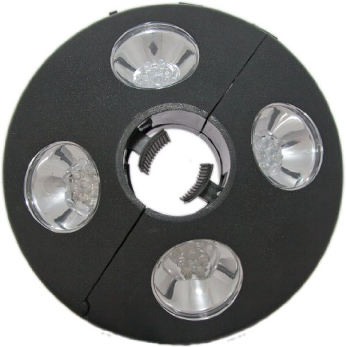 Patio Umbrella Light - 24 LED Lights At 72 Lumens to Really Brighten Your Outdoor Patio Area - 3 X AA Battery Operated - Adjustable to Fit Tightly Around Your Umbrella Pole - Cool White Color - Made of Tough ABS Material