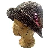 Irish Ladies Hat - Mauve Tweed - Deborah Style - Hand Woven in Ireland