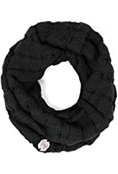 Vince Camuto Women's Black Drop Stitch Infinity Scarf