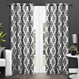 """Exclusive Home Ironwork Blackout Thermal Grommet Top Window Curtain Panels - 52"""" x 84"""", Black Pearl, Sold As Set of 2 / Pair"""