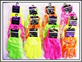 12 x Neon Adults Magic Gloves