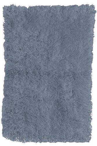 "Standard Flokati Area Rug, 1'10""X2'10"", Denim Blue"