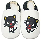 Soft Leather Baby Shoes 0 6 Months Happy Cat Design
