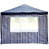 Seitenteile mit Fenster für Pavillon Pavillion in Blau 2 Stück
