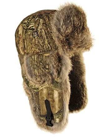 Mad Bomber Saddlecloth Bomber Hat with Real Fur, Mossy Oak Infinity with Brown Fur, Small