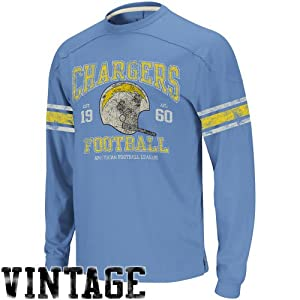 Reebok San Diego Chargers Vintage Applique Long Sleeve T-Shirt by Reebok