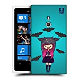 Head Case Designs Bat Spooky Beanies Protective Snap-on Hard Back Case Cover for Nokia Lumia 800