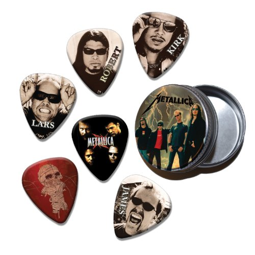 Metallica Set of 6 Loose Chitarra Picks Plettri in Tin ( Collection A )