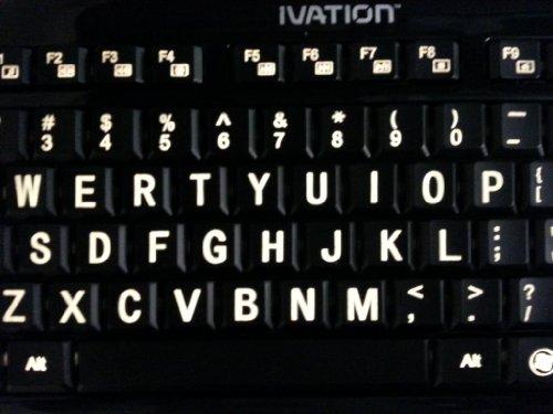 Ivation seven color adjustable letter illuminated large for Backlit keyboard large letters