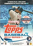 2013 Topps Baseball Series #1 Unopened Blaster Box with 10 Packs of 8 Cards Plus One Commemorative Patch Card
