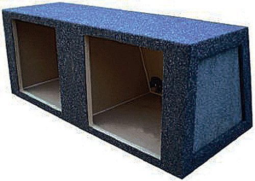 "Absolute Ksb10D 10"" Dual Square Hole Subwoofer Enclosure For Kicker Solo-Baric Subwoofer Or Other Subuwoofers"