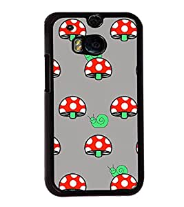Snail and Mushroom 2D Hard Polycarbonate Designer Back Case Cover for HTC One M8 :: HTC M8 :: HTC One M8 Eye :: HTC One M8 Dual Sim :: HTC One M8s