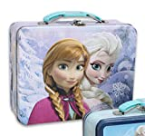 Disney Frozen Embossed Lunch Box - Light Purple