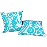2 Piece Set Trendsetter Homez Throw Pillow Cover Cushion Case Made of Pure Cotton Size 18 By 18 Inches Suzani Design By Trendsetter Homez Cushion Cover Pillow Case Collection