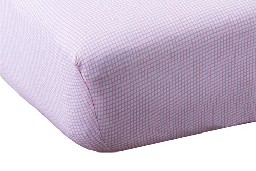 Abstract Baby Fitted Gingham Crib Sheet (28 X 52, Pink)