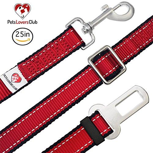 PetsLovers Premium Dog Seatbelt - Best for Dog, Cat Safety in Car - 15-25in Adjustable Length, Durable Nylon