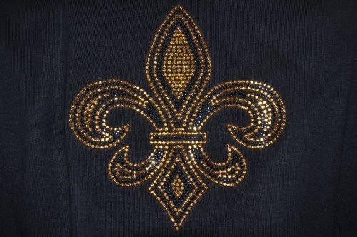 Sz Xl Ls Black Shirt With Black And Gold Fleur De Lis