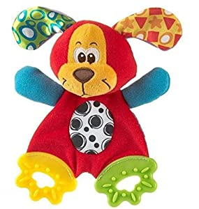 Cute Mouse Baby Toys Learning & Education Soft Toy with Teether and Ring Paper suit for 0-12 Months