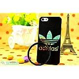 iPhone5/5S ケース 【adidas】(アディダス) カラー ハードケース 海外限定品(ブラック)