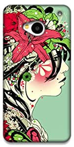 The Racoon Lean Jungle trends hard plastic printed back case / cover for HTC One (M7)