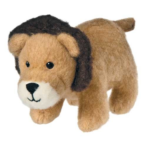 "Mary Meyer Fuzz That Wuzz Mini Zzzzoo 6"" Lion - Brown front-948196"