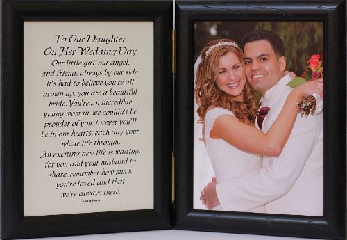 Gift For Daughter On Her Wedding Day From Father : Hinged TO OUR DAUGHTER ON HER WEDDING DAY Poem ~ Black Picture ...