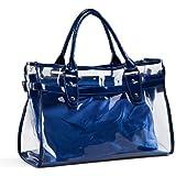 VOCHIC Clear Transparent Tote Shoulder Bag Satchel, Beach Handbag for Women