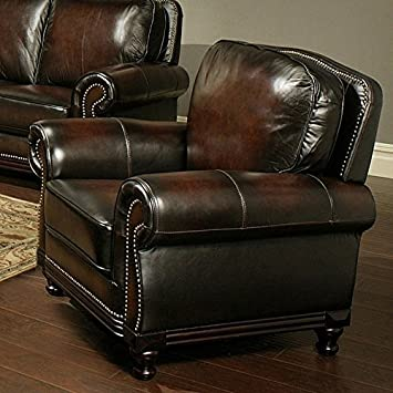 Vienna Hand Rubbed Leather Armchair
