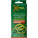 2 x Adult Xpel Tropical Formula Mosquito/Insect repellent bands (DEET FREE)