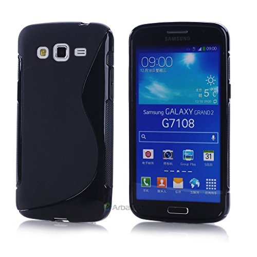 S Case Anti-skid Soft TPU Back Case Cover for Samsung Galaxy Grand 2 SM-G7102 (Black)  available at amazon for Rs.139