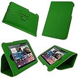 rooCASE Ultra-Slim (Green) Vegan Leather Folio Case for Google Nexus 7 Tablet (Built-in sleep / wake feature)