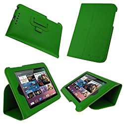 rooCASE Ultra-Slim (Green) Vegan Leather Folio Case for Google Nexus 7 Tablet (Built-in sleep / wake feature)