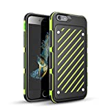 "4.7"" iPhone 6s Case,Zisure [Z-Sword] 2 in 1 Collision Colors Double Layer Shockproof Full Protection Colorful Cellphone Case for Apple iPhone (Green - iPhone 6/6s (4.7""))"