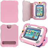 Evecase Ultraportable Leather Wallet Case Cover with Back Stand Cutouts for New Vtech InnoTab 2 Learning App Tablet -Pink