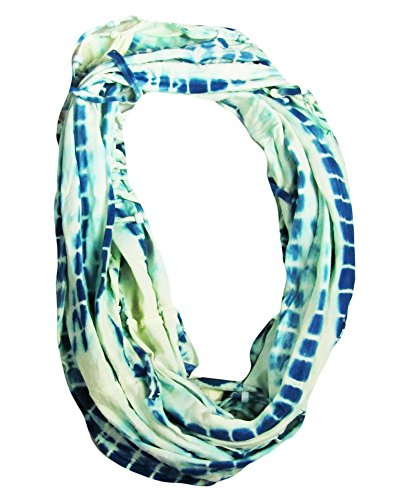 Collection 18 Women'S Beaded Fringe Infinity Scarf, Chambray
