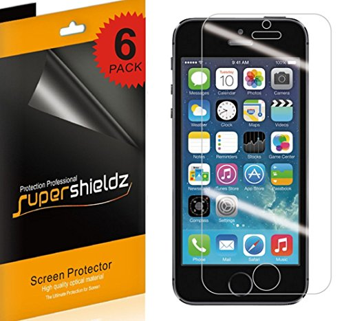 SUPERSHIELDZ- Anti-Glare & Anti-Fingerprint (Matte) Screen Protector For iPhone 5 5S 5C SE + Lifetime Replacements Warranty [6-PACK] - Retail Packag
