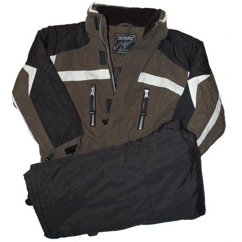 Outburst - skisuit, ski jacket + snow pants, boys, olive