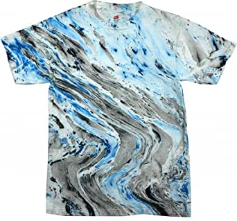 Buy cool shirts mens tie dye shirt black blue for Black and blue tie dye t shirts