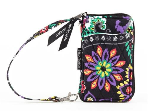Attractive DEAL Bella Taylor Carnevale Quilted Cotton Wristlet ... : quilted wristlet - Adamdwight.com