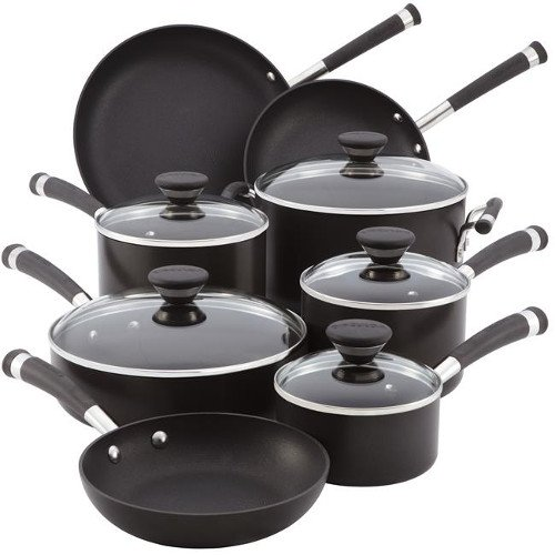 Circulon 83465 Acclaim 13-Piece Cookware Set, Black