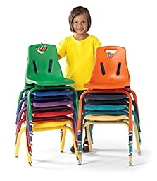 Berries 8124JC1003 Stacking Chair with Powder-Coated Legs, 14\