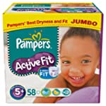 Pampers Active Fit Size 5+ (Junior +)...