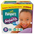 Pampers Active Fit Size 5+ (Junior +) Jumbo Pack 58 Nappies