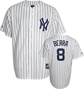MLB Yogi Berra New York Yankees #8 Majestic Cooperstown Collection Throwback Jersey -... by Majestic