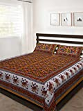Kismat Collection Saganeri & Jaipuri Traditional Cotton Double Bedsheets
